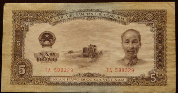 North Vietnamese currency captured by the 1st Battalion 6th